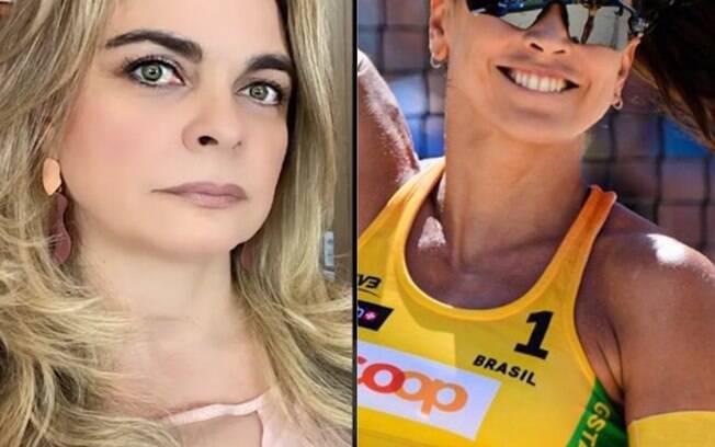Liliane Ventura e Carol Solberg: defensora do atual governo, a apresentadora de TV ainda escreveu em um post sobre a jogadora: 'Tentou lacrar com manifesto e se deu mal'