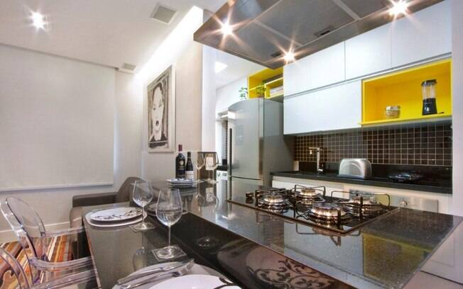 Apartamento de 35 m tem ares modernos e cozinha gourmet for Modelos apartamentos modernos