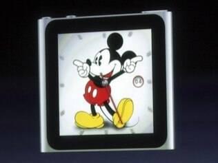 O novo iPod Nano na versão Mickey Mouse