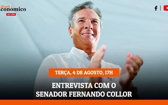 O senador Fernando Collor de Mello será o entrevistado desta terça-feira pelos jornalistas Ludmilla Pizarro e Ricardo Galuppo