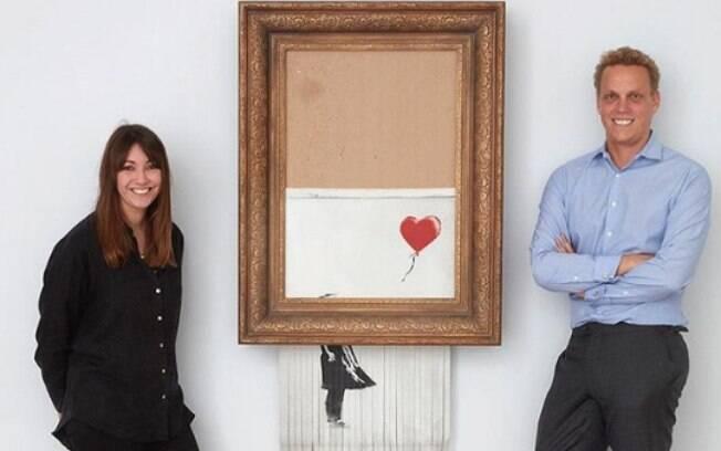 A casa de leilões Sotheby's negou seu envolvimento com a autodestruição do quadro de Banksy