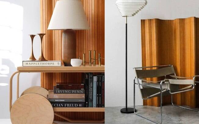 Desenhado pelo arquiteto finlandês Alvar Aalto, este biombo separa espaços com muito bom gosto e inspiração