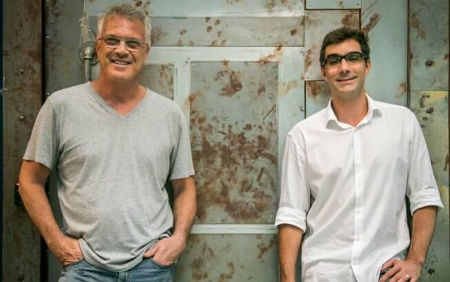 Pedro Bial e Rodrigo Dourado, diretor do BBB