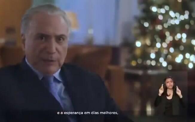 Michel Temer fez seu último discurso natalino como presidente do País nesta segunda; vídeo foi publicado nas redes sociais
