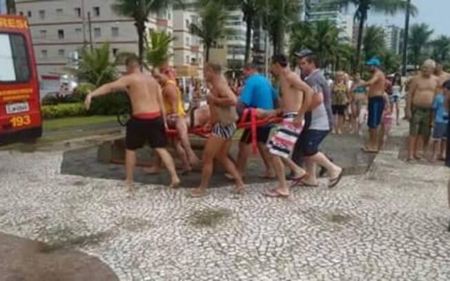 Banhistas morrem após serem atingidos por raio em Praia Grande. Foto: Reprodução