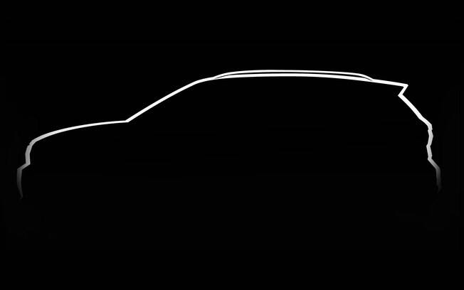 Volkswagen T-Cross: a marca não mostra o SUV, mas antecipa sua visão lateral. Destaque para a semelhança com o Polo