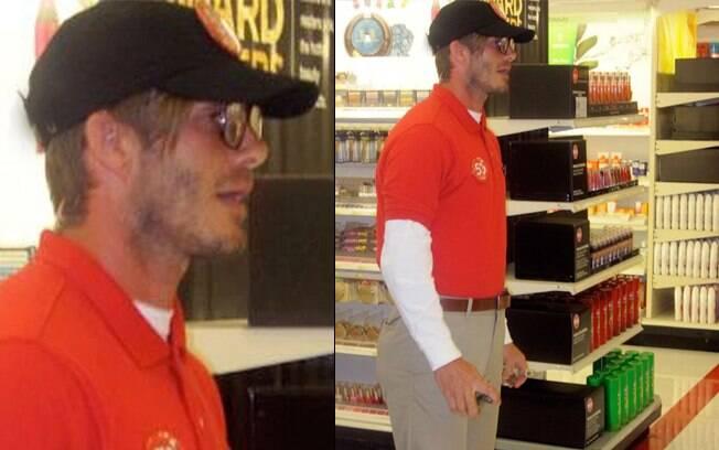 David Beckham se disfarçou de vendedor em uma loja de Hollywood