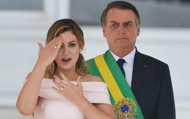 Primeira-dama Michelle Bolsonaro discursa em libras durante posse de Jair Bolsonaro (PSL)