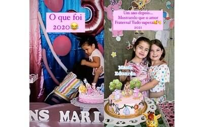 Irmãs que brigaram pela vela do bolo selam paz em aniversário