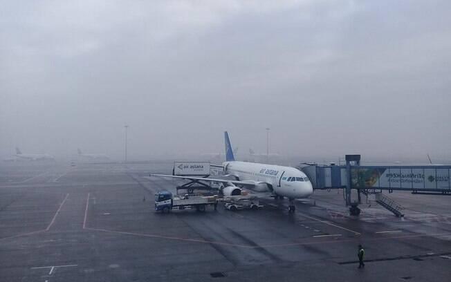 Acidente aconteceu no aeroporto de Almaty