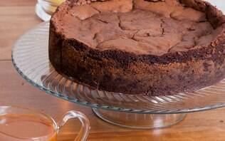 Torta de chocolate com cupuaçu