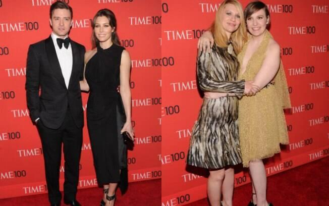 Justin Timberlake, Jessica Biel, Claire Danes e Lena Dunham na festa da 'Time'