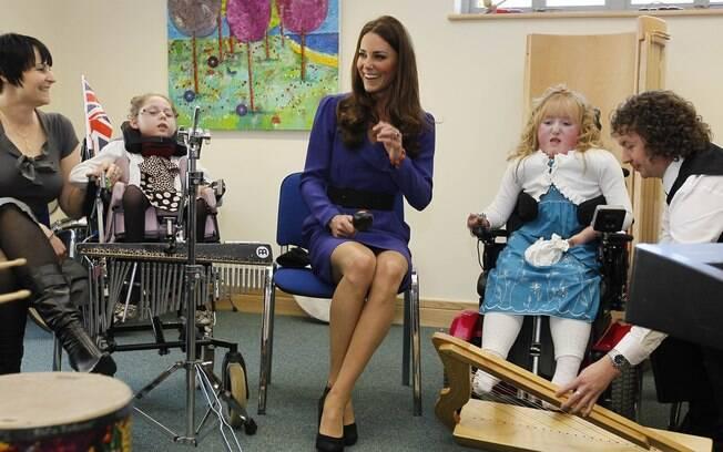 Kate Middleton conversou com os pacientes do hospital