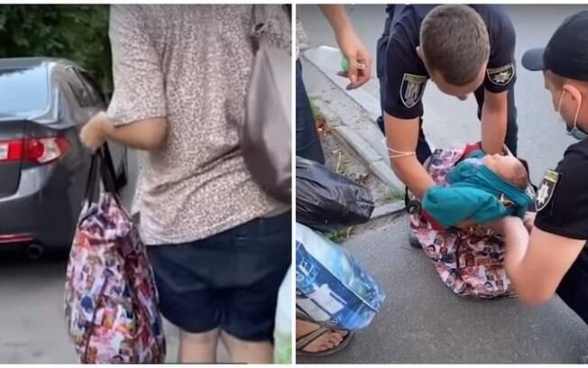 Bebê foi encontrado na sacola, na Ucrânia