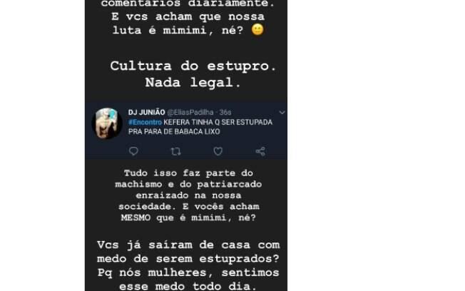 Kéfera compartilha ameaça de estupro nas redes sociais e afirma que a luta das mulheres não é mimimi