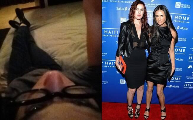 Demi Moore neste domingo (15) e em janeiro, em uma de suas últimas aparições