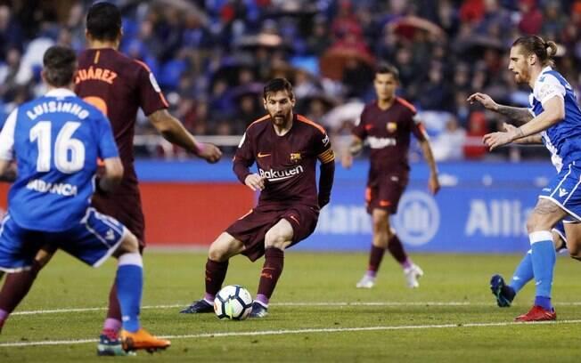 O Barcelona de Messi é o atual campeão do Campeonato Espanhol