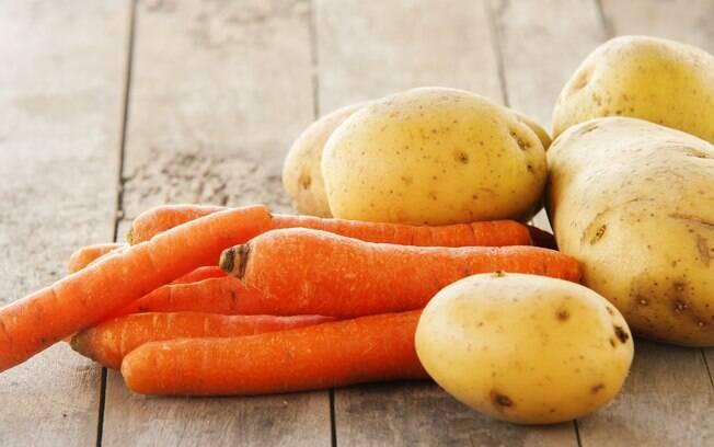 Reaproveite as cascas de batatas e cenouras