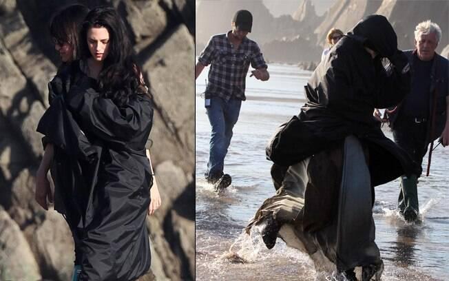 Kristen Stewart em cenas de ação no Branca de Neve e o Caçador
