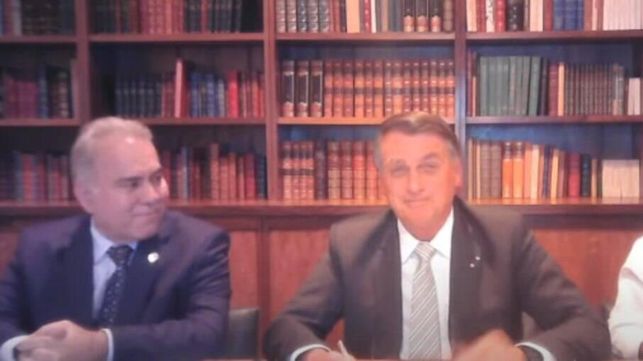 Marcelo Queiroga e Jair Bolsonaro