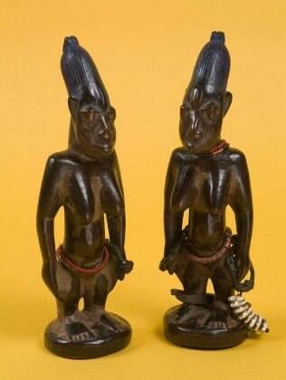 Estátuas de Ibeji da Nigéria do início do século XX