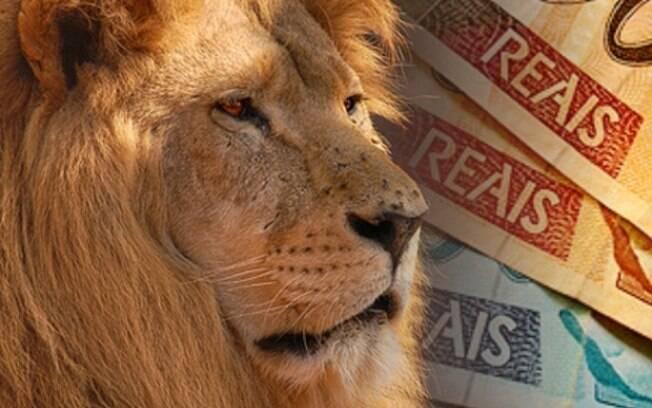 leão e dinheiro