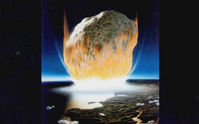 Asteroide caindo