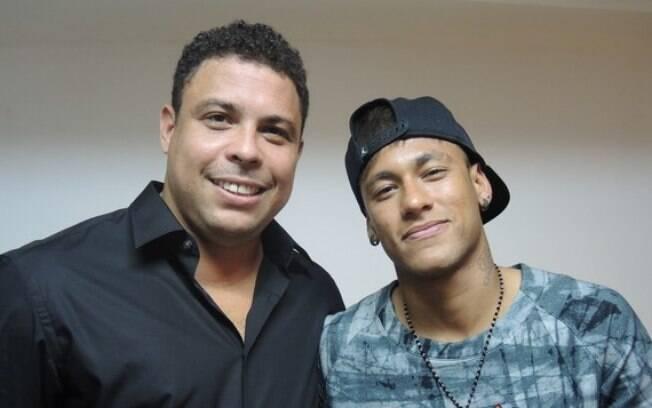 Ronaldo Fenômeno e Neymar: ambos defenderam o Barcelona