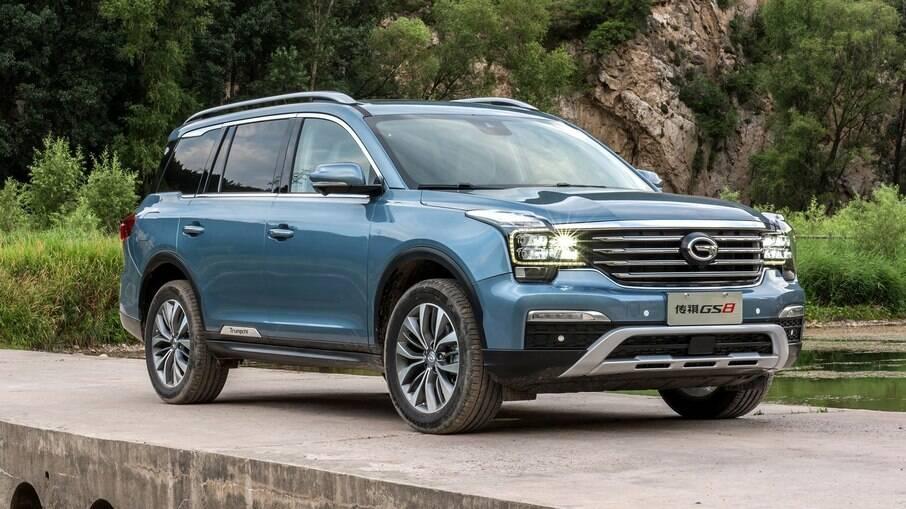 GAC Trumpchi GS8 é o SUV médio que concorre com Kia Sportage e Jeep Compass no mercado chinês