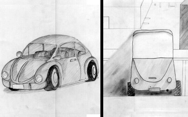 Em 2010, Unicamp pediu desenho de um fusca na prova de habilidades específicas para arquitetura