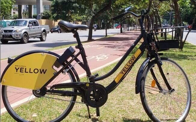 Bicicleta elétrica da Yellow