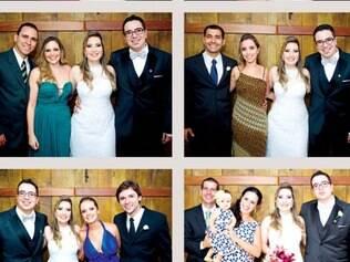 Mariana e Marcelo. O casal disse o tão esperado Sim numa bela cerimônia com a presença da família e de amigos.