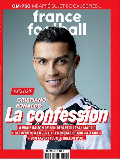 Em entrevista de Cristiano Ronaldo na France Football jogador falou de acusação de estupro, saída do Real e Bola de Ouro