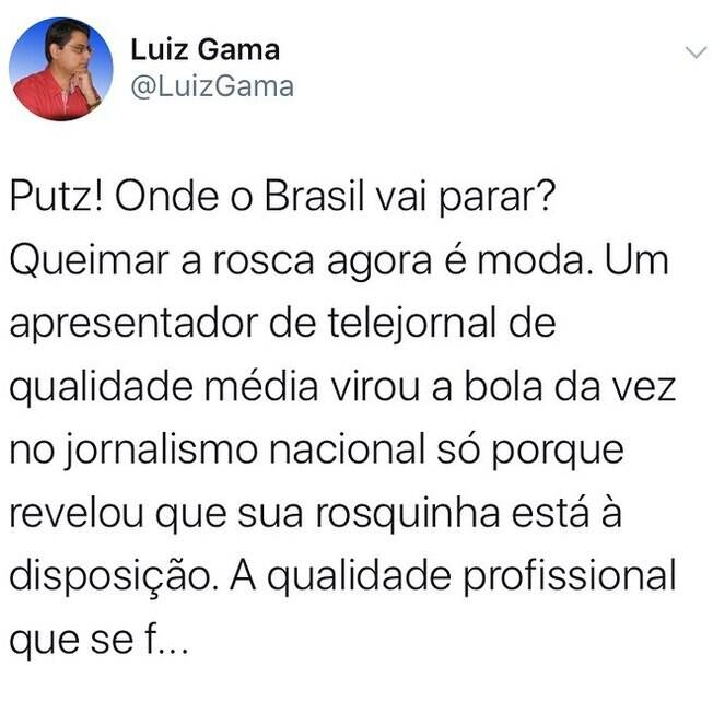 Publicação feita por Luiz Gama no Twitter