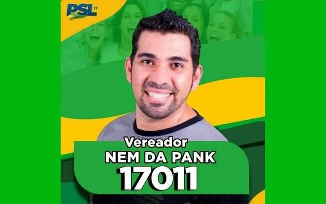 Nem da Pank (PSL) é candidato a vereador de São Gonçalo