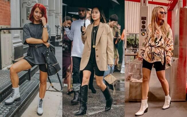 O combo botas e biker shorts vieram para ficar e os calçados podem ser a ousadia que o seu visual precisa para ter estilo