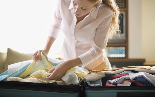 Dentro do avião vá com roupas confortáveis