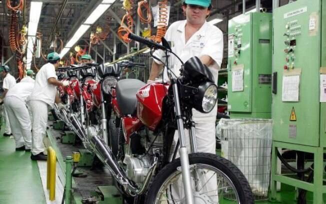Produção de motocicletas