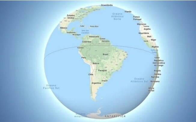 Google Maps, agora, não mostra mais a Terra Plana com a projeção de Mercator, mas versão esférica do globo terrestre