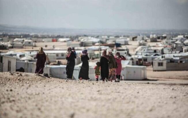 Campo de Zaatari, na Jordânia, abriga mais de 80 mil refugiados sírios (Arquivo)