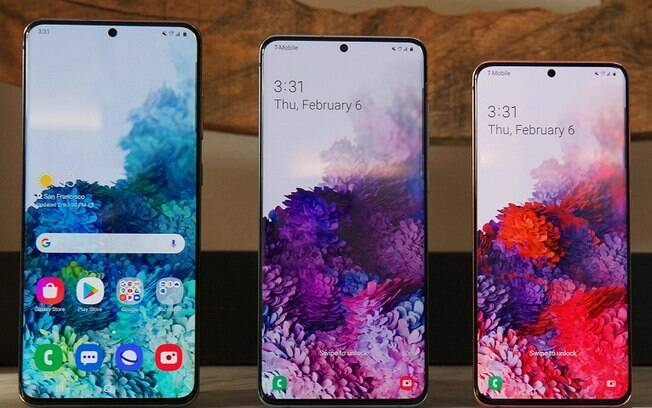 Samsung lançou três novos celulares da família Galaxy S