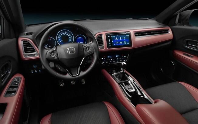 Honda HR-V Sport vendido na Europa vem com revestimento de couro de dois tons, inclusive no painel