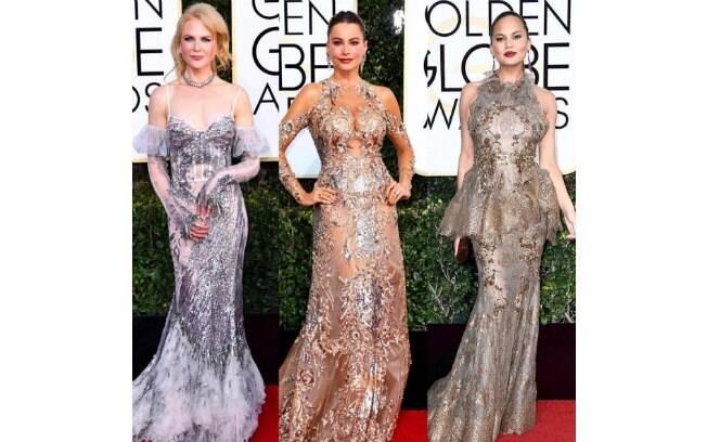 Globo de Ouro 2017: vestidos metalizados