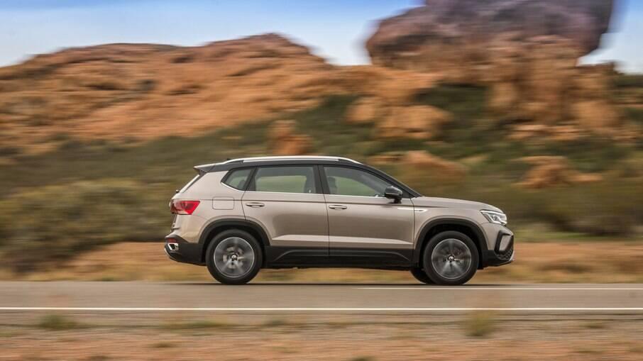 VW Taos tem boa relação peso/torque ajuda na agilidade do carro, que acelera de a 0 a 100 km/h em 9,3 segundos