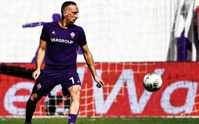 Francês Franck Ribéry fez boa partida pela Fiorentina