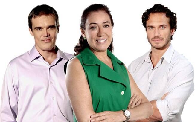 Griselda entre seus dois homens: René (à esquerda) e Guaracy (à direita)