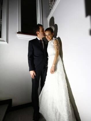 Cris e Edmundo no casamento: unidos pela alegria