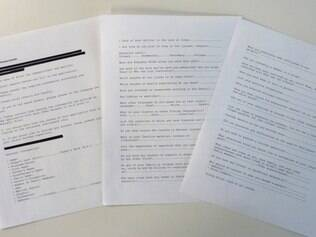 Image taken May 19, 2015 in Washington, DC shows a printed-out version of Al-Qaeda's recruitment form translated by the CIA and provided to AFP. The original document was among intelligence materials seized by US commandos on May 2, 2011 after they stormed Bin Laden's hideout in the Pakistani town of Abbottabad and shot him dead. The CIA declassified the Al-Qaeda recruitment form and around 100 other documents from Bin Laden's archive on May 20, 2015, allowing an insight into his thinking in his final years. The document calls for motivated young volunteers with deep religious convictions, but also with qualifications in science, engineering and office management. Bin Laden called for select individuals to be trained at Al-Qaeda safehouses in Pakistan over a period of months before being sent to launch attacks in the West. EDS NOTE: Parts of the document are redacted at the source's request.   AFP PHOTO