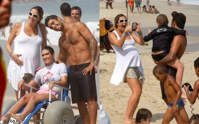 Luana Piovani foi uma das celebridades que aproveitou o fim de semana na praia