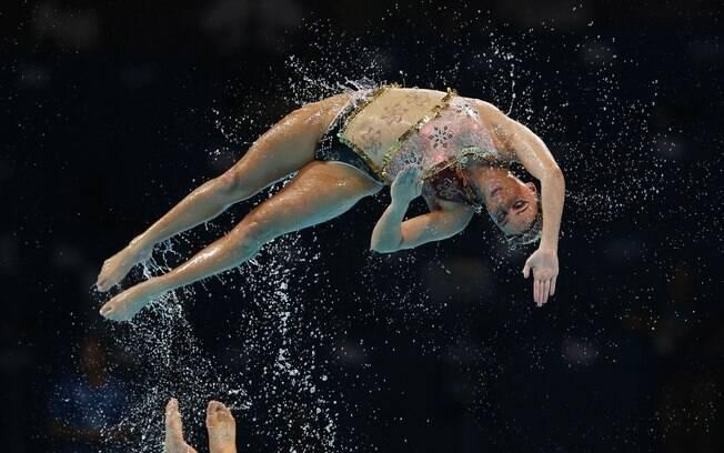 Equipe do Brasil também mostrou saltos na sua  rotina no Mundial